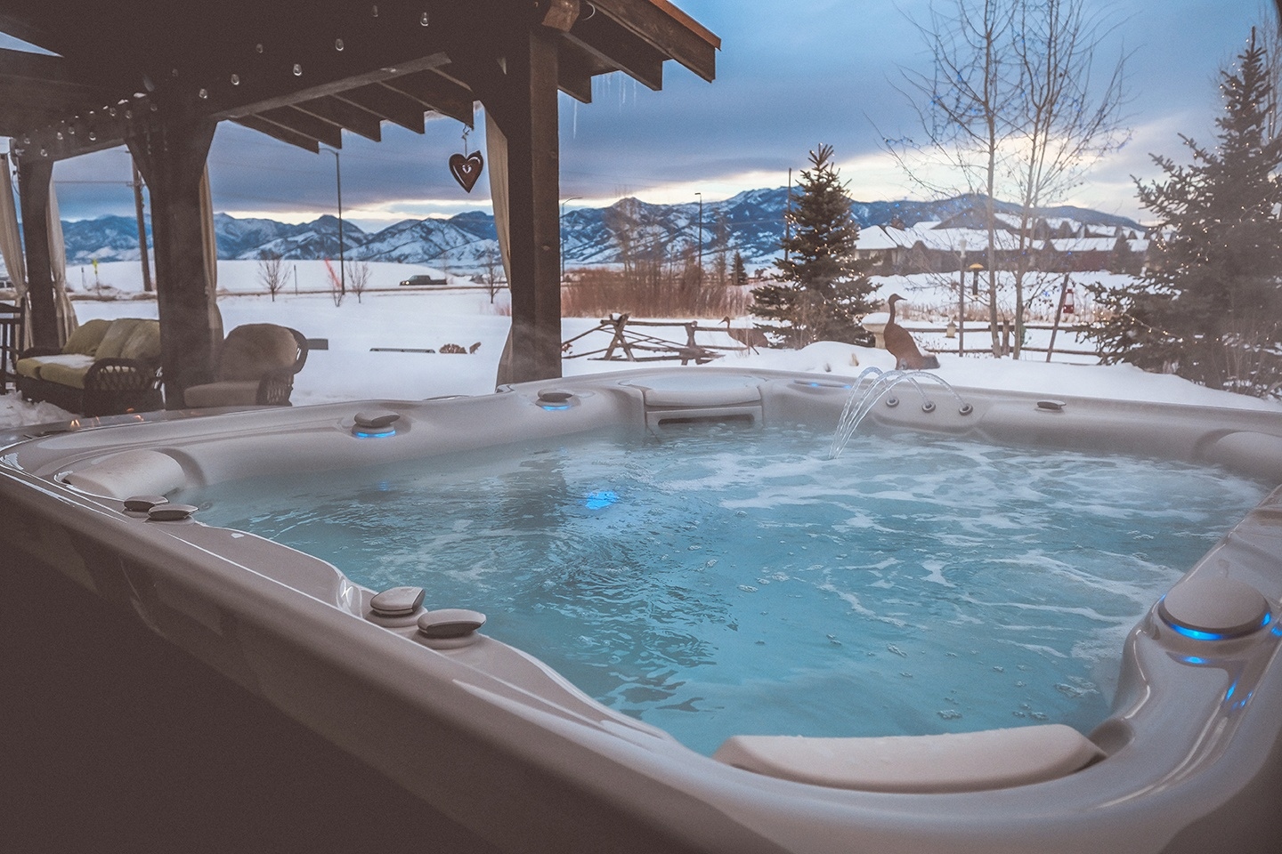 Year-end discounts on  Hot Tubs • Swim Spas • Saunas